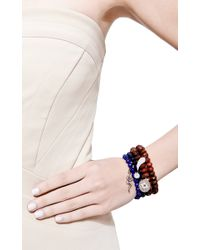 Sydney Evan | Blue Multi Colored Evil Eye Charm Beaded Bracelet | Lyst