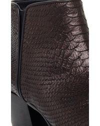 Giuseppe Zanotti - Black Python Embossed Leather Golia Ankle Boots - Lyst