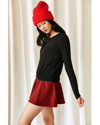 Hiatus - Black Gigi Gathered Hem Sweater - Lyst