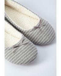 Forever 21 - Gray Stripe Slippers - Lyst