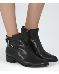 Reiss - Black Buckley Leather Chelsea Boots - Lyst