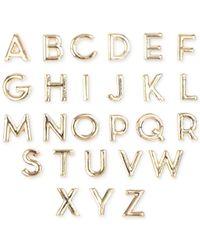 RACHEL Rachel Roy | Metallic Gold-Tone Alphabet Stud Earring Set | Lyst