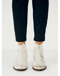 Free People White Fp Collection Womens Dark Horse Ankle Boot