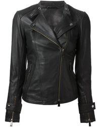 Pinko - Black Classic Biker Jacket - Lyst