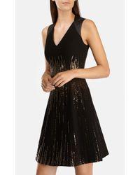 Karen Millen Black Statement Sequin Dress