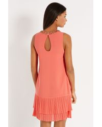 Oasis | Pink Tilly Embellished Shift Dress | Lyst
