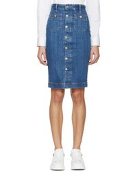 DSquared² | Blue Buttoned Iza Denim Skirt | Lyst