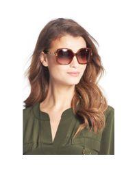 Diane von Furstenberg - Brown Zoe Chain Link Detail Oversized Sunglasses - Lyst