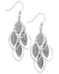 Style & Co. - Metallic Glitter Navette Kite Earrings - Lyst