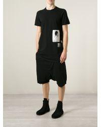 DRKSHDW by Rick Owens - Black 'level' Printed T-shirt for Men - Lyst