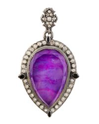 Armenta | Purple Pear-Shaped Sugelite/White Quartz Doublet Enhancer | Lyst