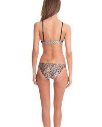 Zimmermann - Natural Nightmarch Piped Tri Bikini Top - Lyst