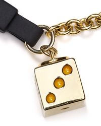 Marc By Marc Jacobs - Metallic Bow Tie Dice Bracelet - Lyst