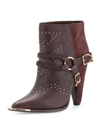 Ivy Kirzhner | Purple Spurs Harness Leather Ankle Boot | Lyst