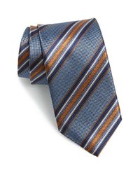 JZ Richards | Blue Stripe Silk Tie for Men | Lyst