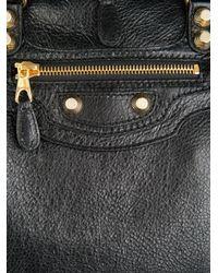 Balenciaga Black Giant Leather Backpack