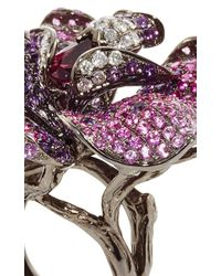 Wendy Yue - Amethyst And Pink Sapphire Flower Ring - Lyst