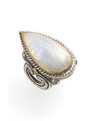 Konstantino - Metallic 'erato' Teardrop Stone Ring - Lyst