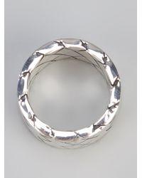 Bottega Veneta | Metallic Intrecciato Ring | Lyst