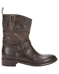 Belstaff - Brown Bedford Motorcycle Ankle Boots - Lyst