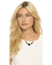 kate spade new york - Park & Lex Row Necklace - Black - Lyst
