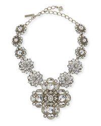 Oscar de la Renta Metallic Crystal Statement Necklace
