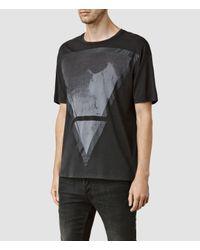 AllSaints - Black Pyramid Crew T-shirt for Men - Lyst
