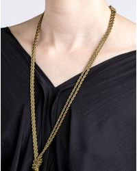 Lanvin   Metallic Necklace   Lyst