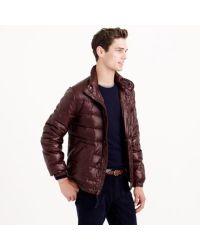 J.Crew Purple Lightweight Puffer Jacket for men