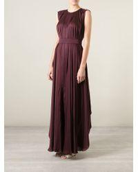 Maison Rabih Kayrouz - Purple Draped Sleeveless Gown - Lyst