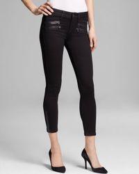 Sold Design Lab Sold Jeans - St. Mark Stiletto Leather Trim In Black