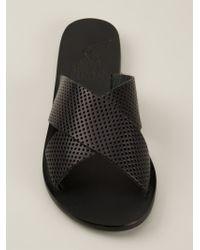 Ancient Greek Sandals - Black 'thais' Slides - Lyst