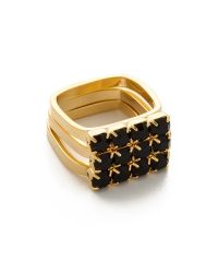 Joomi Lim | Metallic Baroque Punk Crystal Ring Set - Jet | Lyst