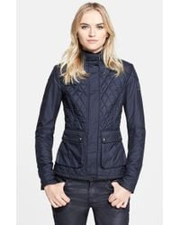 Belstaff | Blue 'aynsley' Lightweight Tech Quilted Jacket | Lyst