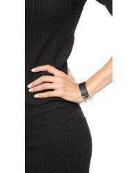 Alexis Bittar - Metallic Leather Hinge Bracelet  Blackgold - Lyst