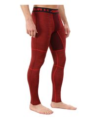 Under Armour - Red Ua Coldgear® Armour® Twist Compression Legging for Men - Lyst