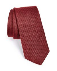 W.r.k. | Red Silk & Cotton Tie for Men | Lyst