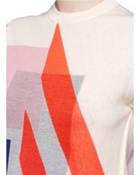 Acne Studios Black 'basil' Geometric Intarsia Knit T-shirt