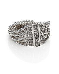 John Hardy - Metallic Bedeg Sterling Silver Multi-Row Bracelet - Lyst