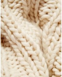 Pieces - Natural Oversized Chunky Infinity Scarf Scarf - Lyst