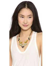 Lulu Frost Multicolor Lightray Necklace Yellow Multi