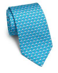Ferragamo - Blue Tugboat-print Silk Tie for Men - Lyst