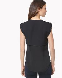 Veronica Beard - Black Placid Double Layer Blouse - Lyst