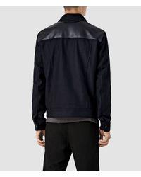 AllSaints | Blue Dixon Jacket for Men | Lyst