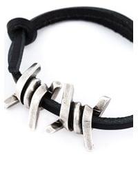 DSquared² | Black Barbed Wire Bracelet for Men | Lyst
