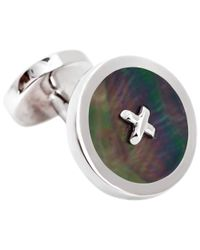 Thomas Pink | Metallic Mother Of Pearl Silver Buttons Cufflinks for Men | Lyst