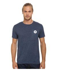 Converse | Blue Core Left Chest Core Patch Short Sleeve Crew for Men | Lyst