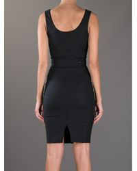 Elisabetta Franchi Black Sleeveless Zip Dress
