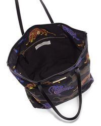 Stella McCartney - Black Multicolor Cat Nylon Tote - Lyst