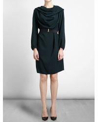 Lanvin - Green Cowl Neck Dress - Lyst